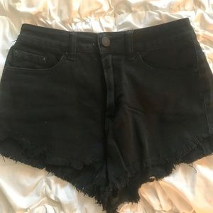 BDG Black high waisted jean shorts